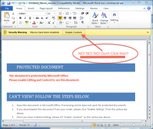 Ransomware word document attachment